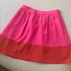J Crew Color Block Block Skirt with pockets